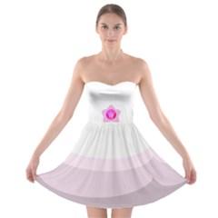 Pink Mom Strapless Dress