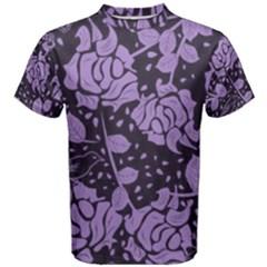 Floral Wallpaper Purple Men s Cotton Tees
